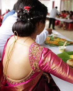 Traditional Blouse Designs, Simple Blouse Designs, Wedding Saree Blouse Designs, Saree Blouse Neck Designs, Wedding Blouses, Wedding Sarees, Wedding Dresses, Designer Blouse Patterns, Work Blouse