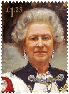 Sergei Pavlenko's portrait, painted in 2000, was on the £1.28 stamp.It was commissioned by the Worshipful Company of Drapers in celebration of the Queen¿s joining of the Freeman of the Company