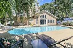 Pretty pool at 1653 Windward Lane, now for sale.