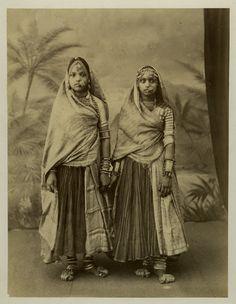 Two Indian Nautch (Dacing) Girls - c1880's