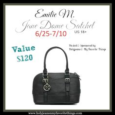 Emilie M. Jane Dome Satchel #Giveaway Ends 7/10