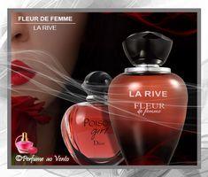 Perfume Fleur de Femme La Rive, Contratipo do Perfume Poison Girl Christian Dior Perfume Light Blue, Britney Spears, La Rive Dupe, La Rive Perfume, Perfume Lady Million, Christian Dior, Perfume Bottles, Make Up, Beauty