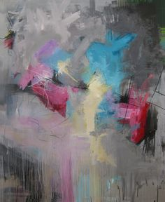 Modern abstract painting - moderne abstrakt maleri - by Rikke Laursen