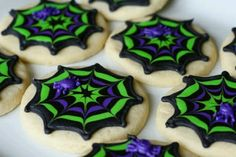 Very pretty spider web cookies.