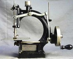 Vintage sewing machine. Hand operated.