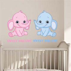 Printet Wallstickers - Sweet dreams elefant
