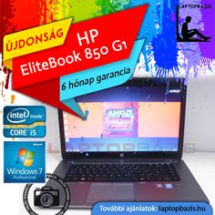 HP EliteBook 850 G1 üzleti és gamer laptop, Intel Core i5-4300U, 12 GB RAM, 500 GB HDD, Dual VGA, HD Webkamera, Windows 7 Pro  Ár: 139 900.- Ft