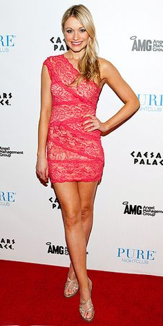 Katrina Bowden laces it up.