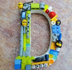 Custom lego decorative letter, lego art,  wall monogram letter, lego mosaic