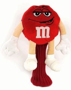 You'll be the talk of the pro shop with these hilarious golf club covers. Collect the set and show the world you're an M&M'S® super #fan! #Red polyester plush. Surface clean.