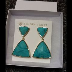 Kendra Scott Turquoise Maury Earrings Brand new with tags. Kendra Scott…