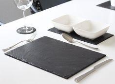 Schiefer 4 Stk Platzset Tischset 40x30 Untersetzer Schieferplatten in Möbel & Wohnen, Kochen & Genießen, Gedeckter Tisch | eBay