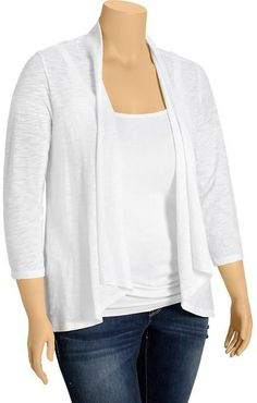Old Navy Women's Plus Lightweight Open-Front Cardis on shopstyle.com