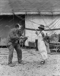 Boy & Girl Circus Clowns 1920s Vintage 8x10 Reprint Of photo Boy & Girl Circus Clowns 1925 vintage 8x10 Reprint Of photo Here is a neat collectible featuring a boy & girl Circus Clowns in a 1920s vint