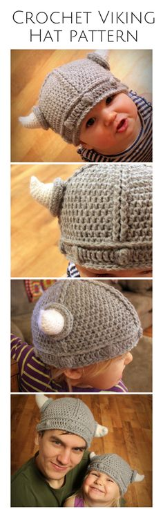 Crochet viking hats! This pattern is just so cool and it's sized to fit even adults! I love love love this. Afflink.