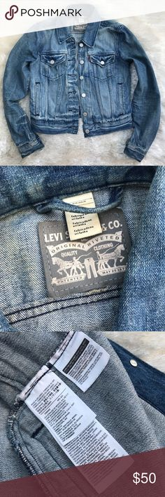 LEVI'S Jean Jacket Levi Strauss and Co. jean jacket. Classic and always stylish. Inside label is silver. Size small. Levi's Jackets & Coats Jean Jackets