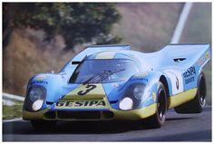 Jürgen Neuhaus / Willy Kauhsen - Porsche 917K - Gesipa - 1000 Kilometres de Paris 1970 - Autodrome de Linas-Montlhéry - Non championship race