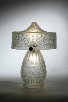 A DAUM Nancy acid-etched glass and wrought-iron lamp circa 1925 shade and base each inscribed Daum Nancy w/ croix de Lorraine. Acid Etched Glass, Art Deco Movement, Art Deco Glass, Crushed Glass, Art Deco Furniture, Antique Lamps, Glass Etching, Beautiful Lights, Lamp Light