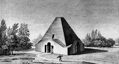 Claude Nicolas Ledoux   House of a Woodsman   1804 Conceptual Architecture, Paper Architecture, French Architecture, Architecture Drawings, Contemporary Architecture, Landscape Architecture, Claude Nicolas Ledoux, 18th Century, Planer