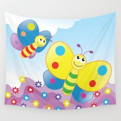 Wall Tapestries are made of 100% lightweight polyester with hand-sewn finished edges.