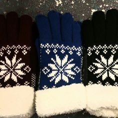 Nordic shearling lined gloves ♡
