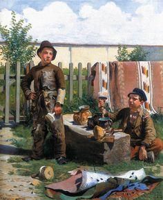 """J. Malczewski """"Dyskusja o sztuce"""" 1886"""