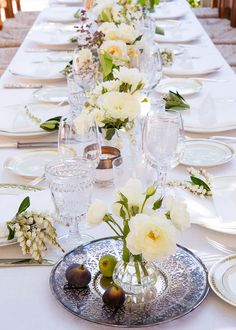 La Tavola Fine Linen Rental: Dupionique Iridescence White | Photography:  Ivy Reynolds of The Gold Collective, Ceremony & Reception Venue: San Ysidro Ranch, Wedding Planner: Twine Events, Florist: Honey of a Thousand Flowers