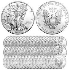 Buy 2016 1 oz Silver American Eagle Coins (BU Lot of Buy Coins, 1 Oz, 50th, Personalized Items, Eagle, Silver, Gold, Stuff To Buy, American