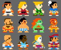 Street Fighter chibi 8bit