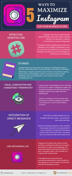 5 Ways to Maximize Instagram for Your Business in 2018 #Infographics
