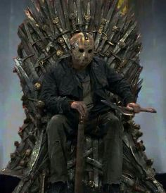 """Hail To The King!"" - With the highest body count in all slasher film franchise history, 'Friday The 13th's' Jason Voorhees truly does sit on a throne all of his own!"