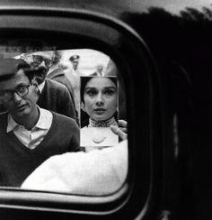 Richard Avedon shooting Audrey Hepburn for a Harper's Bazaar photo shoot, Paris 1961