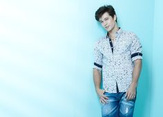 White Printed Shirt for Men perfect match with Jeans | FandF 2013 Spring Summer Collection