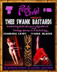 Thee Swank Bastards at Purple Orchid July 19 -- Tiki Central