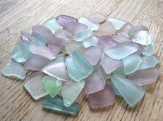 Bulk Sea Glass Purple Aqua Light Blue Seafoam by TidesTreasures, $20.00