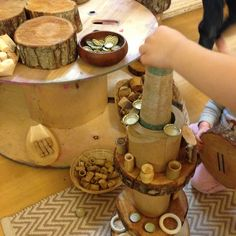 Loose parts play by Little Miss Early Years Home Corner Ideas Early Years, Curiosity Approach Eyfs, Early Years Practitioner, Heuristic Play, Eyfs Classroom, Continuous Provision, Natural Nursery, Block Play, Beer Recipes