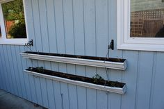 Recycled Gutters Strawberry Planter