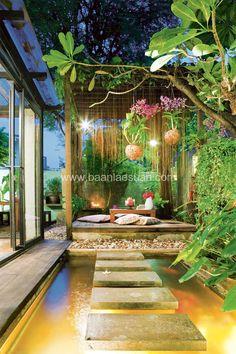 Landscape Design, Garden Design, House Design, Ponds Backyard, Backyard Landscaping, Interior Garden, Home Interior Design, Outdoor Rooms, Outdoor Living