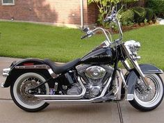 custom black softail and white walls and ape hangers | Photo of a 2006 Harley-Davidson® FLST/I Heritage Softail®
