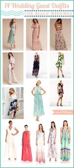 Wondering what to wear to a beach wedding this summer? Here are 14 of our fave picks:  http://www.bellenza.com/wedding-ideas/bridal-style/14-wedding-guest-outfits-for-a-summer-beach-wedding.html  #beachweddings #weddingguestoutfits