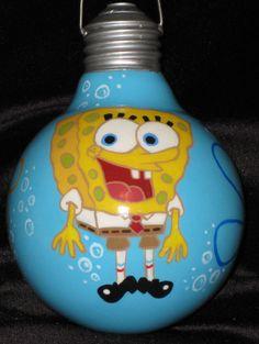 Spongebob lightbulb ornament