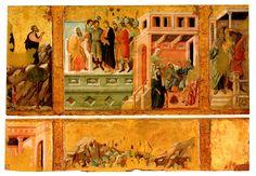 Duccio di Boninsegna  - Maestà della Cattedrale di San Cerbone (1316 ca.) - Storie della Passione - Massa Marittima (GR).  Per vedere l'opera in migliore risoluzione ed ingrandibile vai alla pagina https://picasaweb.google.com/lh/photo/W05ln7ONy72s1L97nd67ItMTjNZETYmyPJy0liipFm0?feat=directlink