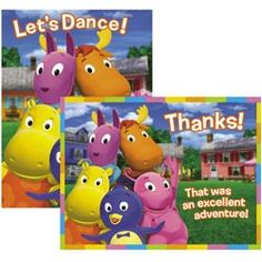 Backyardigans Invitation/Thank You Note Combo (8 of Each) | $3.99 | http://www.discountpartysupplies.com/boy-party-supplies/backyardigans-party-supplies/backyardigans-invitation-thank-you-note-combo.html
