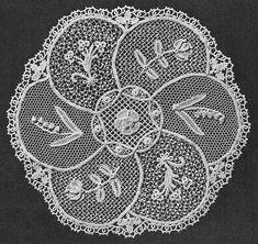Crochet lace sampler mat