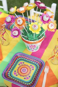 What a fun way to present cake pops at a Cinco de Mayo Birthday Party! See more party ideas and share yours at CatchMyParty.com