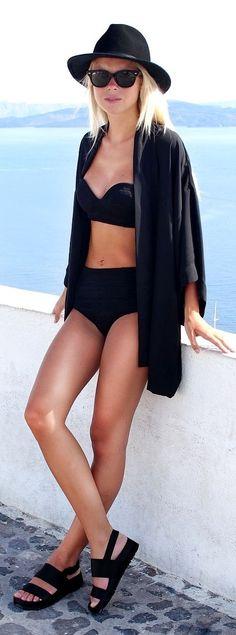 Asos Black Wide Cut Sleeves Oversize Kimono by