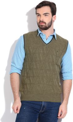 Integriti Solid V-neck Casual Men's Sweater  #winter #jackets #checkered #fashion #integritifashion #sweater