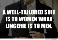 A well-tailored suit