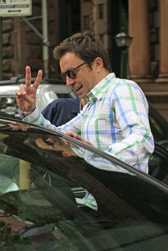 Jimmy Fallon Photos Photos: Jimmy Fallon Leaves His NYC Apartment — Part 2 Jimmy Fallon, Jimmy Jimmy, James Thomas, Greek Gods, My Crush, White Man, Comedians, Famous People, Cool Pictures