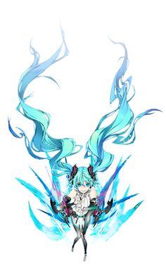 Browse VOCALOID Append Hatsune Miku collected by Aoi Hana and make your own Anime album. Hatsune Miku, Shirow Miwa, 7th Dragon, Miku Chan, Vocaloid Cosplay, Aqua Hair, Aqua Eyes, Best Waifu, Long Hair Styles